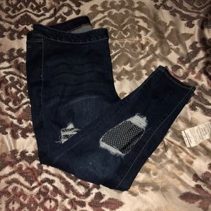 Denim - 👠Fishnet Ripped Jeans